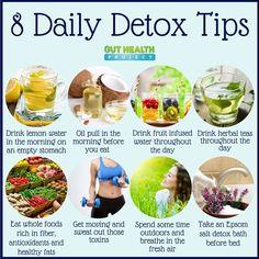 8 daily detox tips