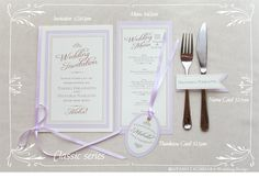 Classic paper set by AYANO TACHIHARA Wedding Design