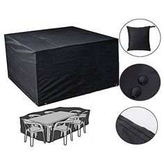 SUNNIOR Waterproof Cube Set Cover - Design to Fit Garden Furniture Cube Set