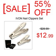 [ SALE ] OFF - Nail Clippers with Catcher Set Fingernail Toenail Stainless Steel Sharp Cutter for Men and Women Amazon Online Shopping, Discount Online Shopping, Shopping Deals, Pedicure Tools, Manicure And Pedicure, Business Gifts, Anniversary Sale, Estee Lauder, Lancome