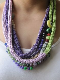 knitted necklace by SEVILSBAZAAR on Etsy, $27.50