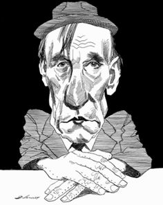William S. Burroughs by David Levine | The New York Review of Books