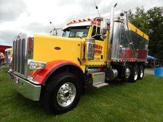 """semitrckn: """"Peterbilt custom 389 tri axle dump """""""
