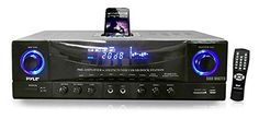 Pyle Home PT4601AIU 500 Watts Stereo Receiver AMFM TunerUSBSDiPod Docking Station and Subwoofer Control -- Check this awesome product by going to the link at the image. (Note:Amazon affiliate link)
