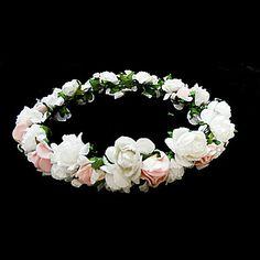 Paper Flower Wedding Flower Girl Headpiece