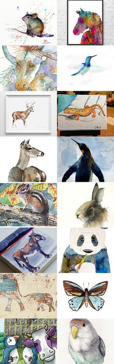 The Wild in Watercolor by Carla on Etsy--Pinned with TreasuryPin.com