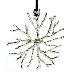 gorgeous ornament  snowflake of tree branches