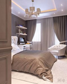 Best ideas for bedroom wall decor master curtains My Home Design, Home Design Decor, Home Office Design, Interior Design Living Room, Home Decor, Small Room Bedroom, Room Decor Bedroom, Bedroom False Ceiling Design, Zeina