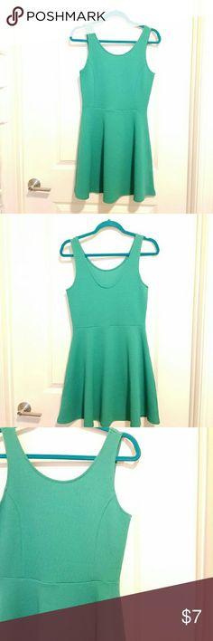 Selling this NWT green skater dress on Poshmark! My username is: amypnp. #shopmycloset #poshmark #fashion #shopping #style #forsale #H&M #Dresses & Skirts