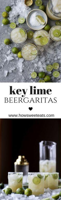 Key Lime Beergaritas I howsweeteats.com @how sweet eats