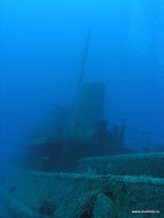 wreck near Malta. underwater photo