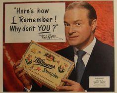 1952 Advertisement: Bob Hope with Whitman's Sampler chocolate