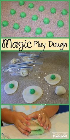 Magic Play Dough recipe and instructions from Play to Learn Preschool