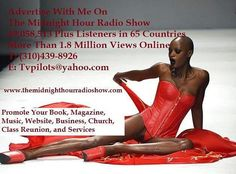 The Midnight Hour Radio Show on tonight @10p on 1490AM WERE, Tunein.com and Black Planet Radio. With hosts Myron Grace, Rockie Thunder, Dionne Jones and Cha Cha. www.themidnighthourradioshow.com.