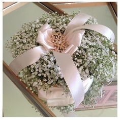 Baby's breath ring pillow