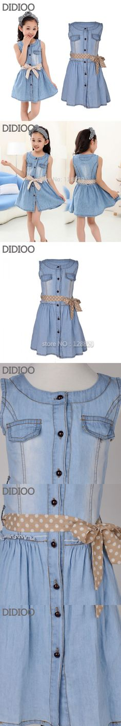 Teenage Girls Dresses Summer Style Sleeveless Denim Dress for Girls Clothing Teens Sundress kids clothes 2 4 6 8 10 12 14 15 Y $14.99