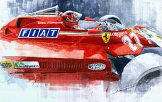 Ferrari 126c Silverstone 1981 British Gp Gilles Villeneuve Painting
