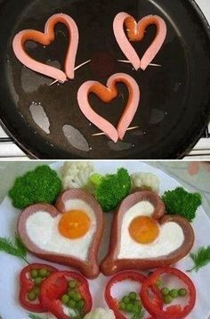 Nice and artsy way to cook hotdogs and eggs