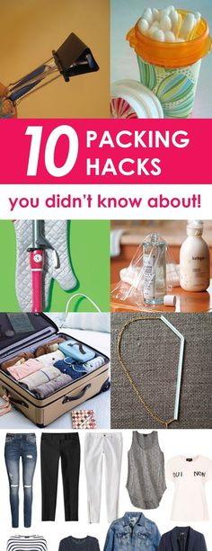 10 Packing Hacks You Didn't Know About! Packing hacks can really help make your travel plans a little less stressful. Whether you're traveling by car or plane, here are 10 packing hacks to help make your trip a bit easier! Store Q-tips. Travelling Tips, Packing Tips For Travel, Travel Essentials, Travel Hacks, Travel Ideas, Travel Advice, Packing Ideas, Packing Lists, Camping Packing Hacks