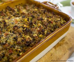 Whether you scoop on the stuffing or dole out the dressing, this classic holiday side dish can easily get out of hand, especially if you go overboard on caloric ingredients. My scrumptious spin allows you to cut back on bread by using cauliflower instead. The result is incredibly delicious and will be a welcome addition at your Thanksgiving table.