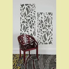 """Cutting Edge Stencils - Designer  Stencil """"Vine""""  by Diane Paparo Studio-  These are cool because they are easy and they are INSTANT art!  Put them anywhere!  Use 1,2, or 3!"""