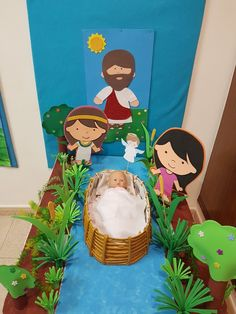 Decoración para la Historia del bebé Moisés Bible Activities For Kids, Bible Stories For Kids, Bible Crafts For Kids, Preschool Bible, Preschool Crafts, Sunday School Crafts For Kids, Bible School Crafts, Sunday School Activities, Sunday School Lessons