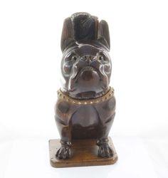 Vintage boxer dog shaped, wood brush holder from the 30s  Collectible Italy Porta spazzole di legno  a forma di  boxer anni '30 Collezionw di ItalianVintageFamily su Etsy