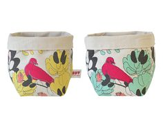 Delightful little fabric baskets from iSpy Screen Printing, Baskets, African, Fabric, Prints, Design, Screen Printing Press, Tejido, Tela