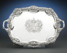 George III Silver Tray by William Elliott