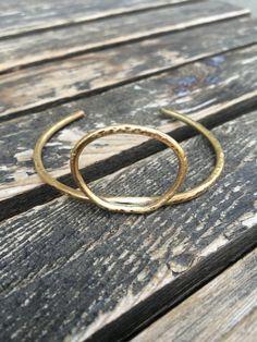 Minimal Circle Bangle Bracelet by AURAVEDASF on Etsy
