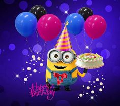 Take a look at the best Minion birthday quotes in the photos below and get ideas for your own birthday wishes! Happy Birthday Kind, Funny Happy Birthday Messages, Funny Happy Birthday Images, Happy Birthday Greetings, Funny Birthday, Cake Birthday, Birthday Kids, Minion Birthday Quotes, Happy Birthday Minions Gif