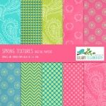 Spring colors - scrapbook papers