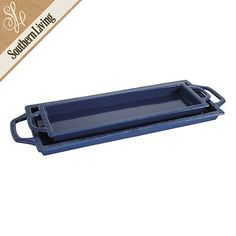 Southern Living Set of 2 Rectangular Trays