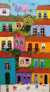 Resultado de imagen para arte grafica collage casas ciudades naif