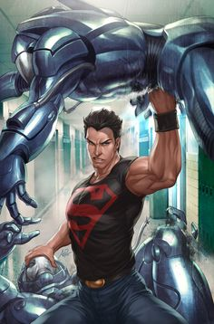 Superboy 4 Variant Cover by `Artgerm on deviantART