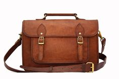 Leather Camera Bag / Satchel / Messenger Bag - Two in One - Vintage Retro Look