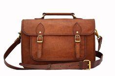 Leather Camera Bag / Satchel / Messenger Bag - Two in One - Vintage Retro Look