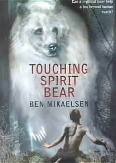 A beautiful book - Touching Spirit Bear by Ben Mikaelsen . This book is highly recommended by me for students in the preteen age group.  This was a book I read with my students and they asked if I could get the sequel for them to read, so I did!  If you want to get your kids to read, pick a book worth reading!