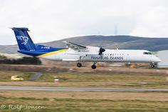 TF-FXI De Havilland Canada DCH-402 Air Iceland Aberdeen airport EGPD 30.03-16