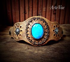 Leather cuff by Tamra at ArteVae