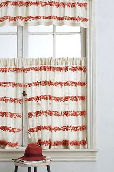 Anthropologie - Pom-Trim Curtain