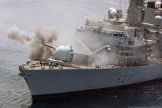 hms argyll f 231 type 23 frigate mark-8 gun