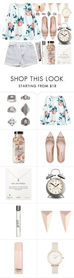 """Light florals"" by rheeee ❤ liked on Polyvore featuring Topshop, Levi's, Miu Miu, Dogeared, Newgate, philosophy, Alexis Bittar, Chloé and Olivia Burton"