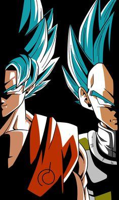 Goku and Vegeta from the Dragon Ball Super anime