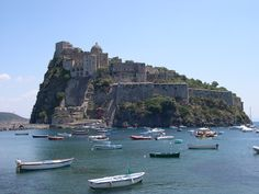 Castello Argaonese, Ischia, Italy.  Because forts are awesome.