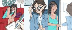 'Psicóloga Direta', criada por João Pavan, estreia hoje no site da Folha.  Ilustração: João Mirio Pavan