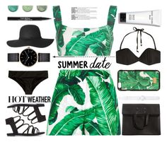 """Summer Date in The Sun"" by chocolate-addicted-angel ❤ liked on Polyvore featuring Dolce&Gabbana, Maison Margiela, Oscar de la Renta, Zimmermann, Myku, Bobbi Brown Cosmetics, Trish McEvoy and Terre Mère"