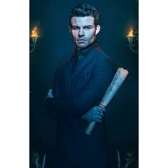 Elijah Mikaelson The Vampire Diaries ❤ liked on Polyvore featuring home and home decor