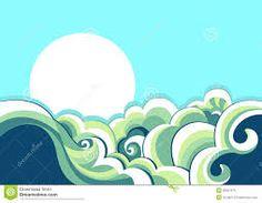 Image result for wave illustration vintage