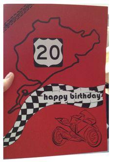 Geburtstagskarte. Racing. Nürburgring. Motorrad. Birthday Card.